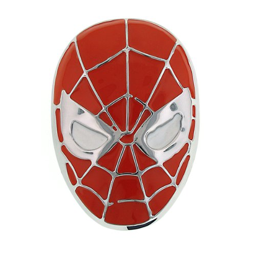1928 Marvel Men's Spiderman Matte Head Belt Buckle (Red)