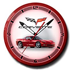 Corvette C6 Red Neon 20 Wall Clock Car Made In USA New
