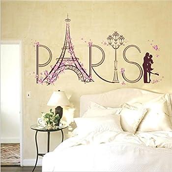 Amazon.com: Eiffel Tower Home Decor Romantic Paris Wall Sticker For ...