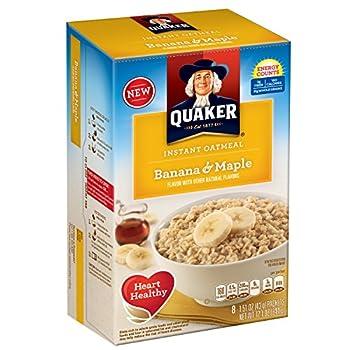 Quaker Instant Oatmeal Breakfast Cereal, Banana & Maple, 12.1 Ounce 2