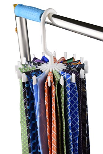 YanLen 2 Pack 18 Hooks Belt Neck Tie Holder Organizer Space Saving Rack Hanger