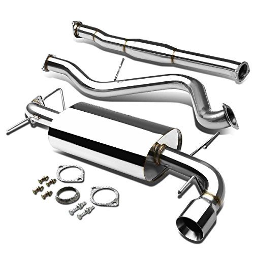 For Subaru Impreza WRX EJ25 G3 Stainless Steel 4 inches Rolled Muffler Tip Catback Exhaust System