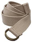 Edwards Woven D-Ring Web Belt, SAFARI, Medium