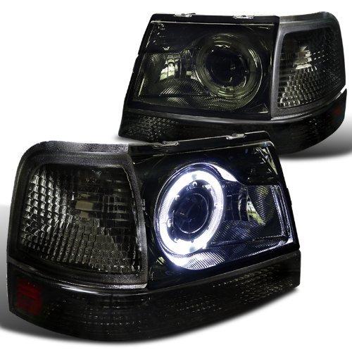 Ford Ranger Smoke Halo Projector Headlights+Tint Corner Signal ()