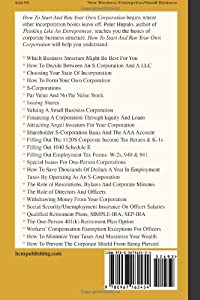 How To Start And Run Your Own Corporation: S-Corporations For Small Business Owners by H C M Publishing
