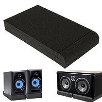 KING DO WAY Two 5'' Inch Quality Monitor Isolator Pads Studio Monitor Speaker Isolation Foam