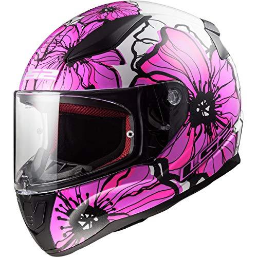 LS2 Rapid Mini Youth Helmet - Poppies (Small) (Pink)