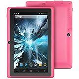 ProntoTec 7″ Android 4.4 KitKat Tablet PC, Cortex A8 1.2 GHz Dual Core Processor,512MB / 4GB,Dual Camera,HDMI,G-Sensor (Pink)