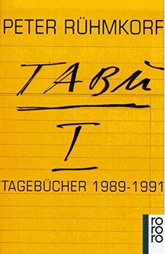 TABU 1. Tagebücher 1989 - 1991