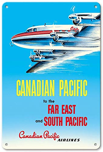 Airlines Pacific Canadian - Bruyu5se Aluminum Sign, Metal Sign, 7