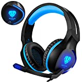BUTFULAKE XBox one Gaming Headset for PS4, PC, Laptops, Nintendo Switch, Mobile Phones with Mic Noise Isolation/ LED Light/ Bass Surround Stereo/ One Key Mic Mute/ 3.5mm Wired Headphones