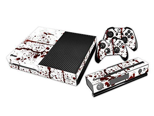 NDAD-New-Unique-Protective-Decals-Stickers-Skin-for-Microsoft-Xbox-One-Bloody-Red-White