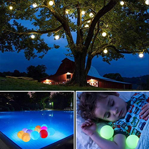 "Aokely Flashing LED Ball Light, Floating Pool Lights 6pack Waterproof Mood Light Battery Operated 3.2"" Decorative Ball for Garden Decoration/Pool/Pond/Party"
