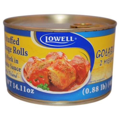 Lowell Foods Canned Stuffed Cabbage Rolls with Pork in To...