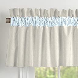 Carousel Designs Light Blue Linen Window Valance Rod Pocket
