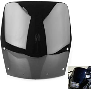 Windshield Windscreen Double Bubble For Kawasaki Ninja 250 EX250 1988-2007 (Black)