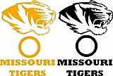 Missouri Tigers Cornhole Set of 6 Vinyl Decal Stickers Herky Bean Bag