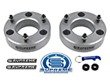 Supreme Suspensions - Silverado 1500 Lift Kit Front 3'' Leveling Lift Kit for [2007 - 2018 Chevy Silverado 1500] and [2007 - 2018 GMC Sierra 1500] SILVER Aircraft Billet Strut Spacers