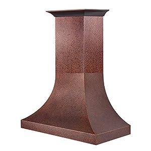 "ZLINE 48"" Designer Series Hand-Hammered Copper Finish Wall Range Hood (8632H-48)"