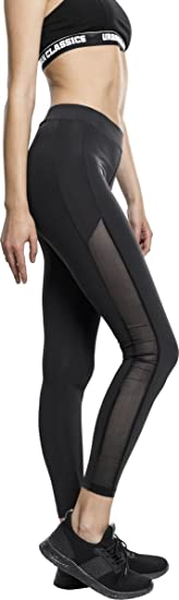 Urban Classics Damen Ladies Tech Mesh Stripe Leggings