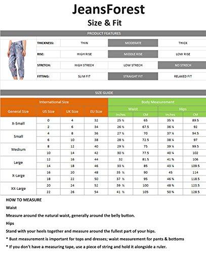 JeansForest JeansForest Azul para Vaqueros Vaqueros Mujer para Azul Mujer wqIHCHa