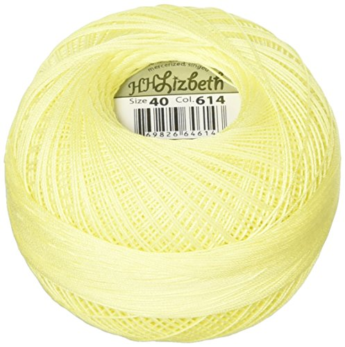 Handy Hands Lizbeth Premium Cotton Thread, Size 40, Lemon Light