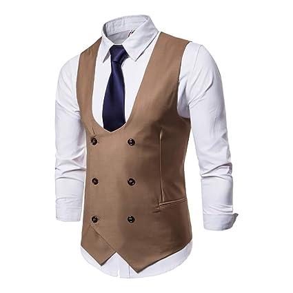 Chalecos De Vestir Para Hombres Nuevo Estilo De Doble