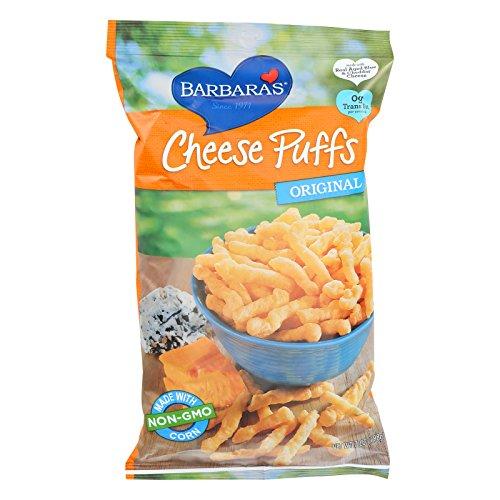 Barbaras Bakery Baked Cheese Puffs - Original - Made with Non GMO Corn - Case of 12 - 7 oz.