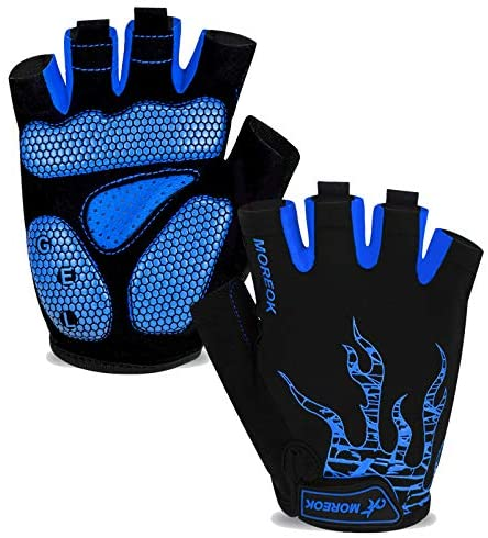 CAMYOD Fingerless Bike Gloves Mountain Bike Gloves with Anti-Slippery Palm Patch for Men and Women Shock-Absorbing Half Finger Cycling Gloves