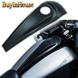 (2008-2017 for Harley Street/Road Glide Harley Accessories)Decorative Fuel Tank Cover/Lock Cover Gloss Black Signature Jim Nasi Smooth Dash