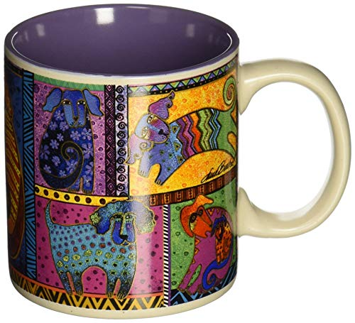 Laurel Burch Artistic Mug Collection, Dog Tails Patchwork