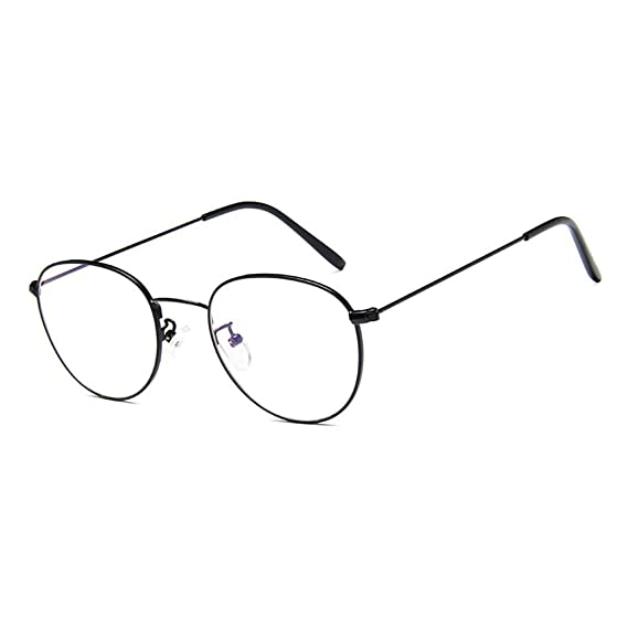 cf2d87510d Metal Gafas unisex, glasses retro con redondas Marco, lentes Anteojos nerd  transparentes: Amazon.es: Ropa y accesorios