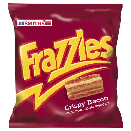 Smith's Smiths Frazzles Crispy Bacon Flavour Corn Snacks - Pack Of 30 (Store Ontario British)