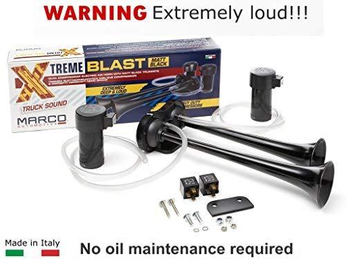 Super Loud 148DB Marco Extreme Blast Premium Air Horn Car Truck SUV (BLACK ()
