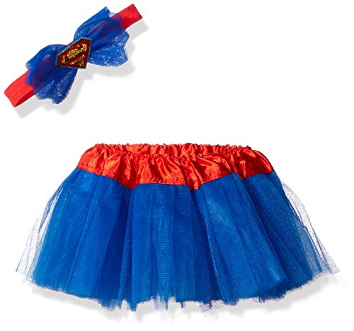DC Comics Baby Supergirl Headband and Tutu Set, Blue, 0-6 Months