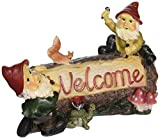 Design Toscano Garden Gnome Statue – Greeting from the Garden Gnomes Welcome Sign – Lawn Gnome For Sale