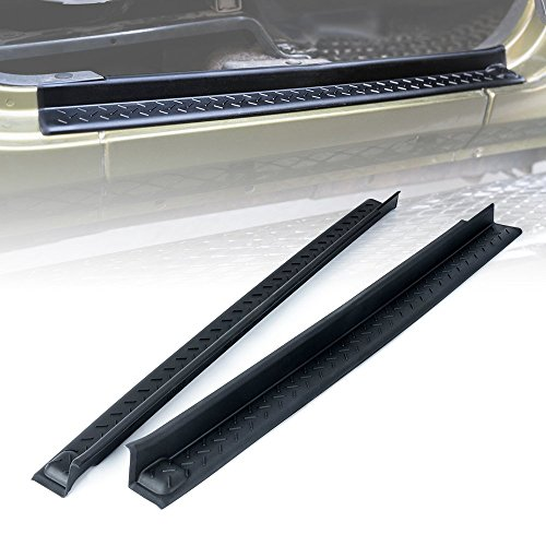 Xprite Front Entry Guards Door Entry Sill Plate Protectors for 2007-2018 Jeep Wrangler JK 2 Doors (Sill Emblems Door)