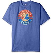 MLB Montreal Expos Men's Short Sleeved Graphic T-Shirt, 3X/Tall, Royal Heather