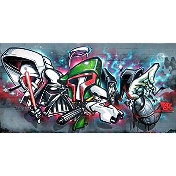 Wall Painting On Vinyl Of Illusion Graffiti Kings Star Wars Artwork Hip Hop Gangsta Poster