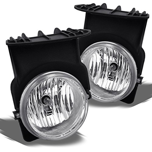 For GMC Sierra Pickup Truck Bumper Driving Clear Fog Lights Driver/Passenger Lamps with Switch/Bulbs