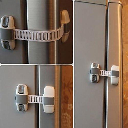 Bazar bebé niños armario frigorífico bebé seguridad puerta corredera cajón correas congelador seguridad armario armario Catch Lock: Amazon.es: Hogar