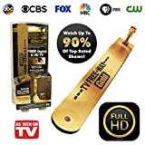 BulbHead Official As Seen on TV TV Free-Way Gold—TV Antenna with Gold Connectors for Signal Transfer—Free Digital & HD Broadcast Television for Free