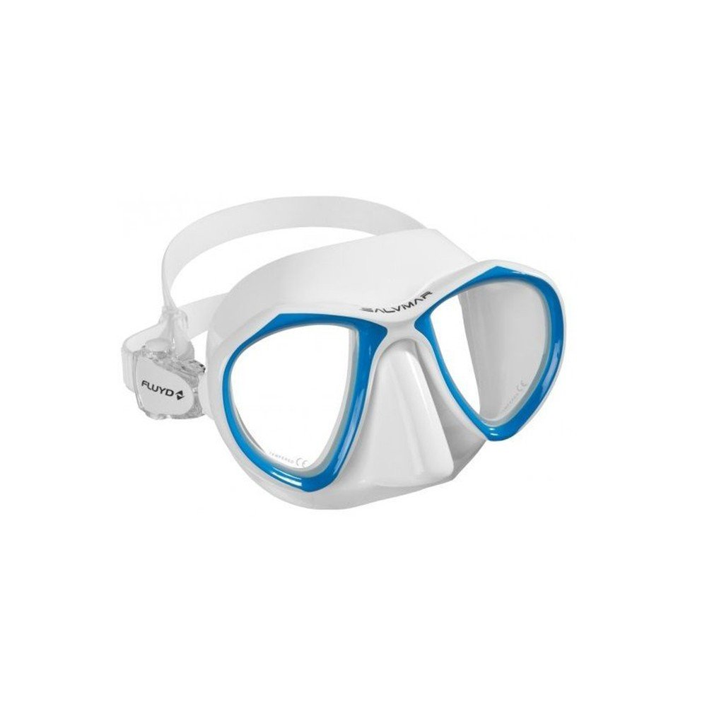 SalviMar Noah Two-Lens Low-Profile Freediving Mask White