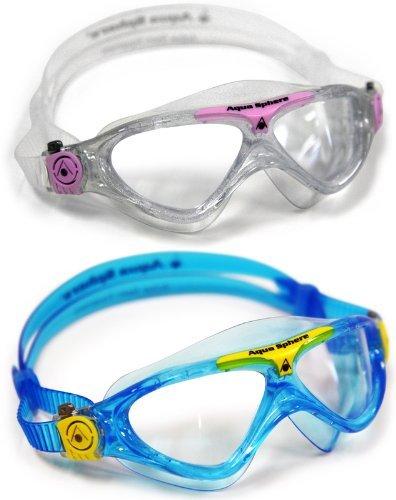 Aqua Sphere Vista Junior 2 Pack Swim Goggles by Aqua Sphere