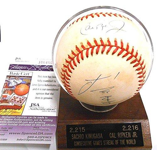 - Jsa Sachio Kinugasa ?? ?? Cal Ripken Jr. Hall of Fame Autograph Hand Autographed Signature Auto Baseball Ball