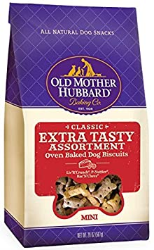Old Mother Hubbard Crunchy Classic Natural Dog Treats, Extra Tasty, Mini Biscuits, 20-Ounce Bag 2PK