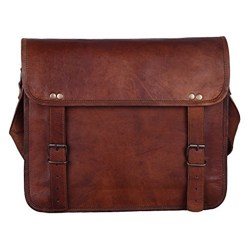 Rustic Town 15'' Genuine Leather Handmade Crossbody Messenger Satchel Laptop Bag by RusticTown (Image #6)