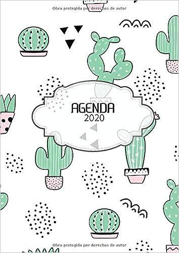 Agenda 2020: Tema Cactus Agenda Mensual y Semanal + ...