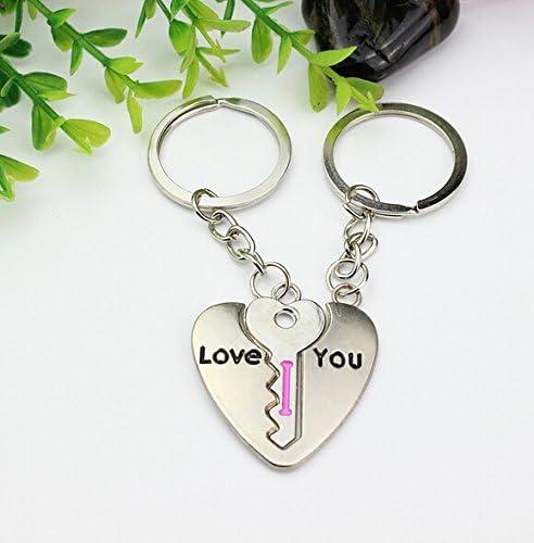 SAMGU Le Jour de Lovers Cadeau Couple Valentine Love Le verrou Keychain Porte-cl/és Mode