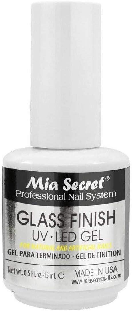 Mia Secret Glass Finish UV-LED Gel 0.5 Fl. oz - 15mL
